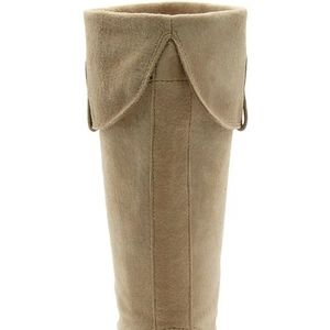 """Report Shoes - Report """"Ataani"""" Tan Suede Espadrille Wedge Boot"""